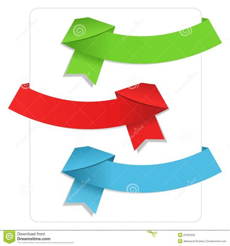 Origami With Ribbon - origami ribbons royalty free stock image image 21664536