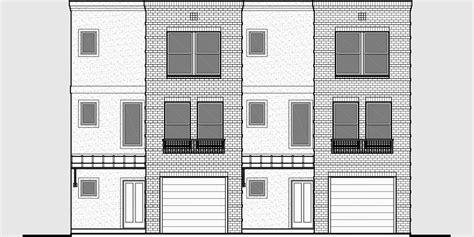 modern duplex house plans modern town house plans duplex house plans sloping lot plans