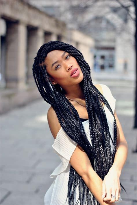 diy natural hair care   chunky braids solange