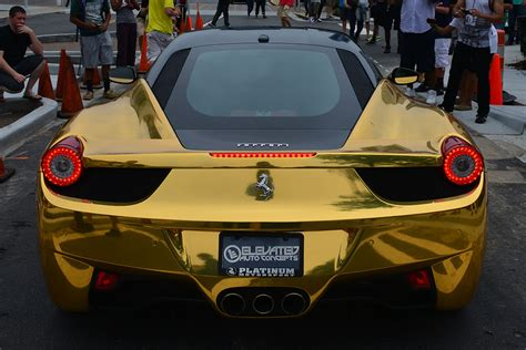 gold 458 italia metallic gold 458 italia in buckhead atlanta