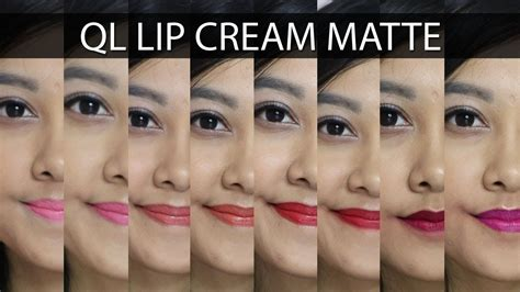 Lipstick Ql ql lip matte swatch mini review lipstick lokal cuma rp 36ribu aja
