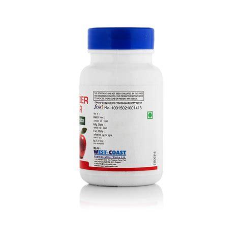 Apple Cider Vinegar Tonic 60 Detox Meth by Healthvit Apple Cider Vinegar 500mg 60 Capsules