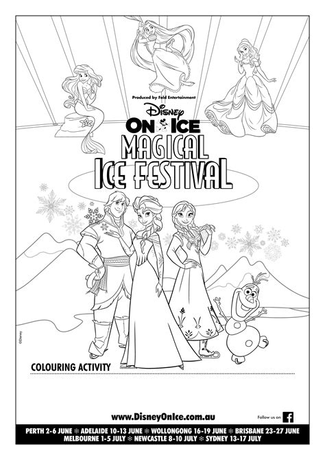 awesome free printable disney on ice activity sheets plus