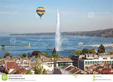 Overall Jeneva the city of geneva in switzerland a general and aerial view royalty free stock photo image