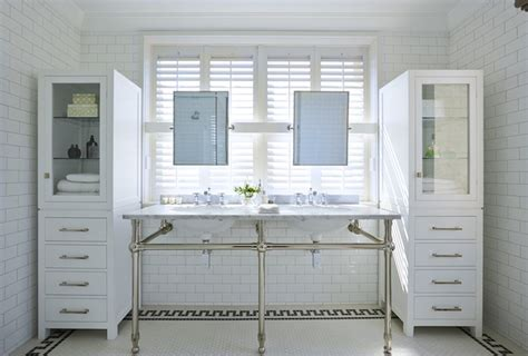 glass front bathroom cabinet glass front linen cabinets transitional bathroom