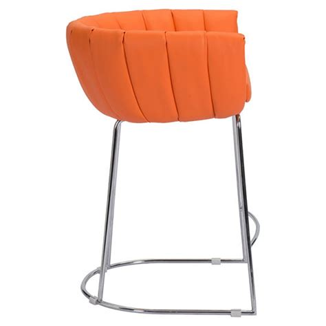 orange counter chairs latte backless counter chair orange dcg stores