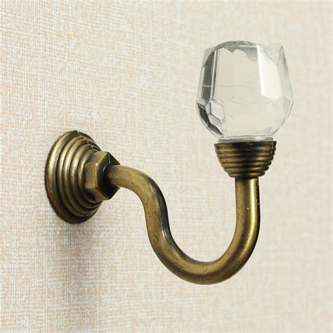 curtain wall hook metal crystal glass rose shape wall tie clothes curtain
