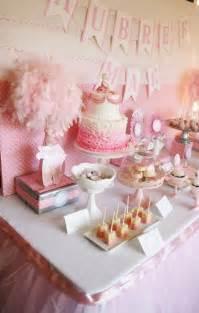 pink ballerina ballet tutu baby shower