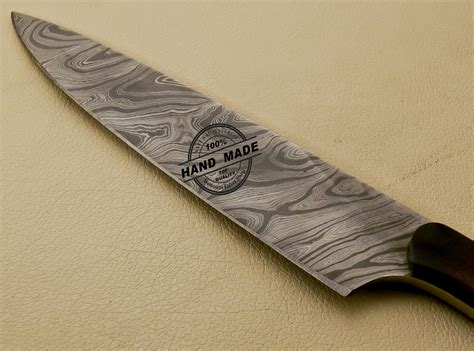 handcrafted kitchen knives damascus kitchen knife custom handmade damascus kitchen