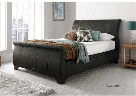 Brown Leather Ottoman Bed Kaydian Middleton 6ft Kingsize Brown Leather Ottoman Bed By Kaydian