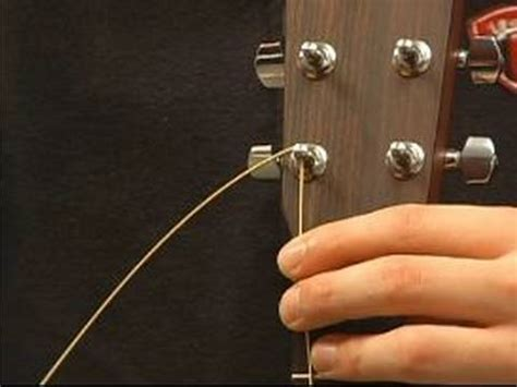 How To String - how to string a guitar how to put guitar strings in the