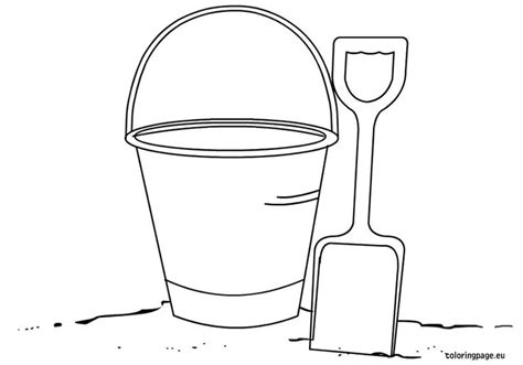 bucket and shovel coloring page summer pinterest