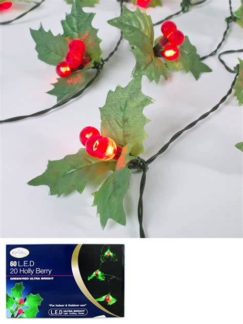 led christmas holly berry lights led lights berry mistletoe indoor warm white decoration ebay