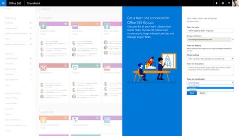 create a building online 接続された sharepoint online チーム サイトを瞬時に作成 office blogs