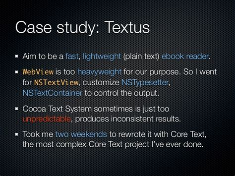 nstextfield layout manager text layout with core text