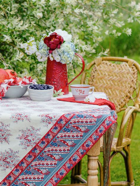 marseille tablecloth table linens kitchen tablecloths