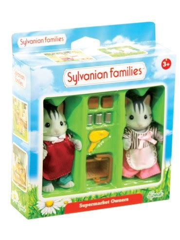 Sylvanian 2813 Supermarket Owners sylvanian families supermarket owners mr toys toyworld