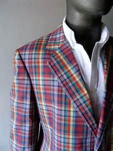 colorful mens blazers mens plaid cotton blazer 44r classic palm plaid