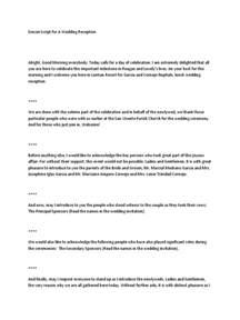 wedding mc checklist template emcee script for a wedding reception wedding