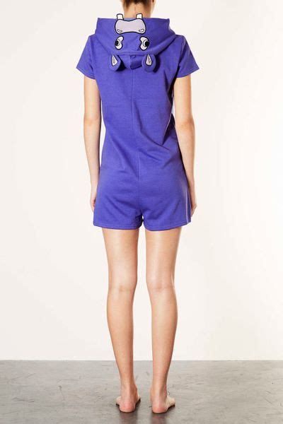 Hippo Jumpsuit 1 topshop hippo leg all in one in purple lyst
