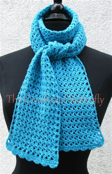 Handmade Scarves Patterns - crochet pattern v stitch scarf crochet s