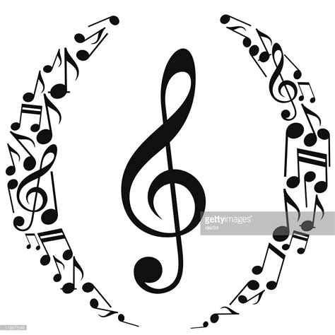 dark color musical notes vector musical notes oval composition vector art getty images