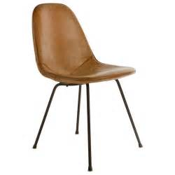 Charles eames dkx 1 postman s bag leather side chair 1950 s at 1stdibs