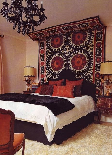 tapestry above bed