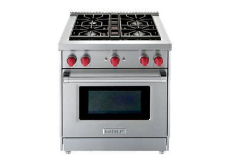 wolf gas cooktop 30 wolf 30 quot stainless steel gas range gr304 abt