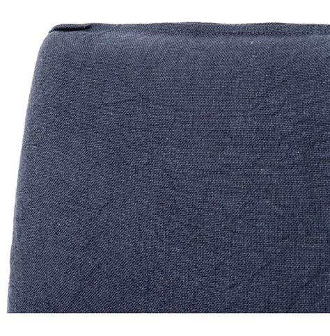 navy blue dining chair slipcover lena modern classic navy blue wrinkle linen slipcover