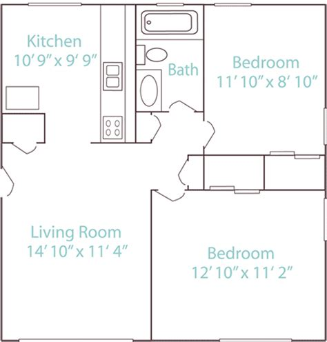 650 sq ft floor plan 2 bedroom 2 bed 1 bath 650 sq ft manchester flats apartments