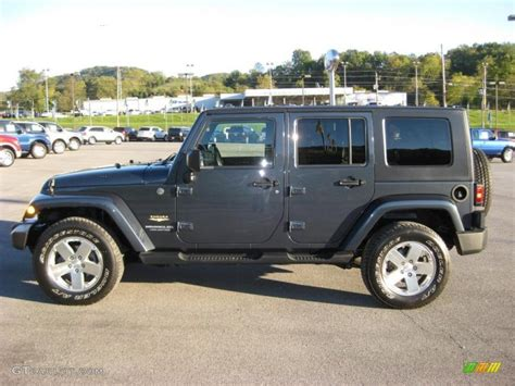 dark grey jeep 2008 steel blue metallic jeep wrangler unlimited sahara