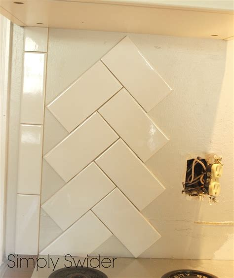 How To Install Subway Tile Backsplash Kitchen by How To Install Herringbone Tile