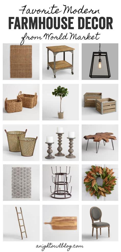 favorite modern farmhouse decor  world market