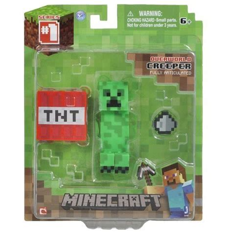 minecraft steve zombie creeper enderman set of 4 figures from mj minecraft toy