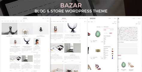 blogger store themes bazar blog store wordpress theme themekeeper com
