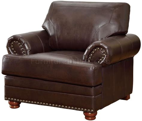colton sofa 504411 in brown bonded leather by coaster w