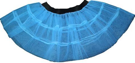 blue plain v stripe petticoat tutu skirt layer