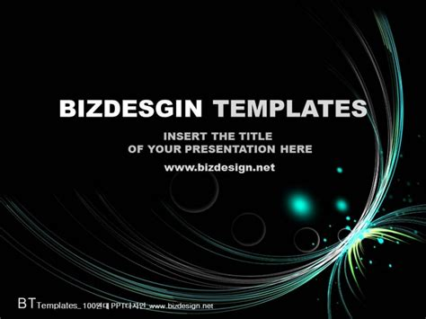 flash wave abstract powerpoint templates