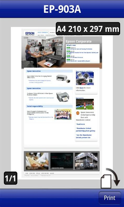epson printer app for android epson launches iprint app for android phones and tablets