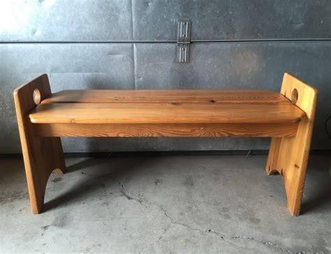 scandinavian bench scandinavian pine slat bench by gilbert marklund for