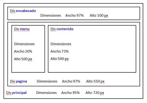 div php desarrollo de plantilla web con css formularios html y