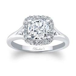 Barkev's Cushion Cut Engagement Ring 7999L
