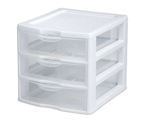 Small Drawer Storage Unit 6 Sterilite 20738006 Small Compact Countertop 3 Drawer