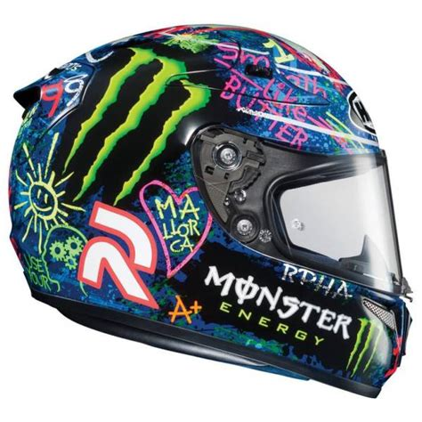 Motorradhelm Monster by Casque Moto Int 233 Gral Hjc Rpha 10 Plus Graffiti Lorenzo