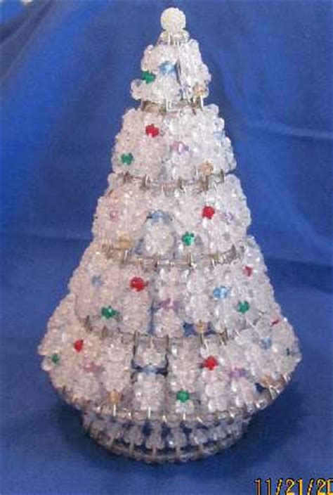 crystal ice beaded christmas tree kit safety pins