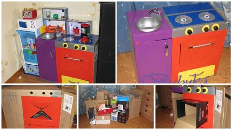 craft ideas for kitchen how to make children s kitchen set step by step