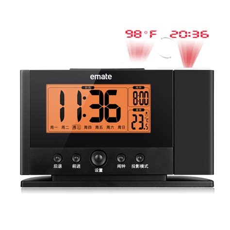 alarm clocks that project time on ceiling projection alarm clock wall ceiling display weekday temperature orange backlight clocks modern