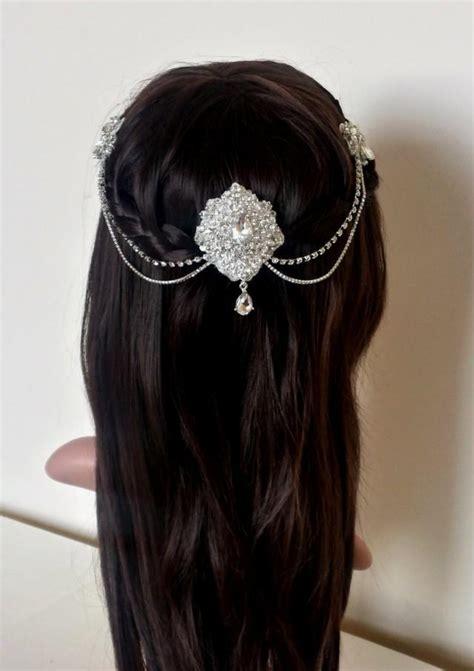 hair drapes vintage style headpiece antique style drop headpiece