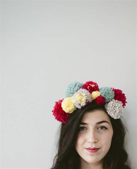 Subtle Version Of The Pom Pom Hat by Pom Pom Headband A Subtle Revelry